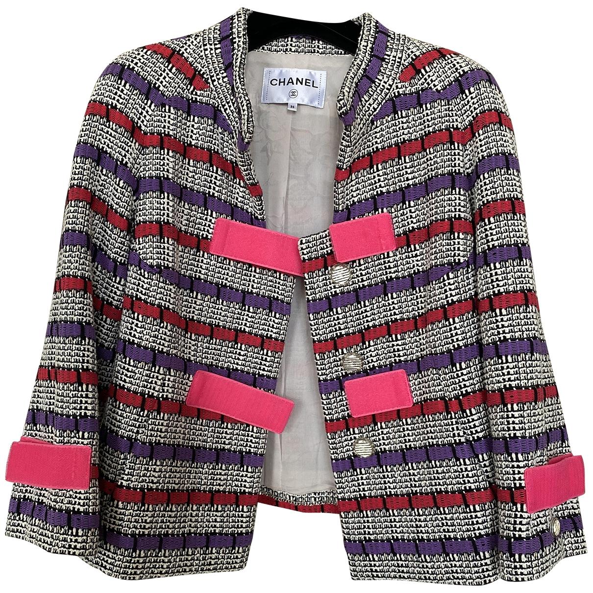 Chanel \N Pink Tweed jacket for Women 36 FR