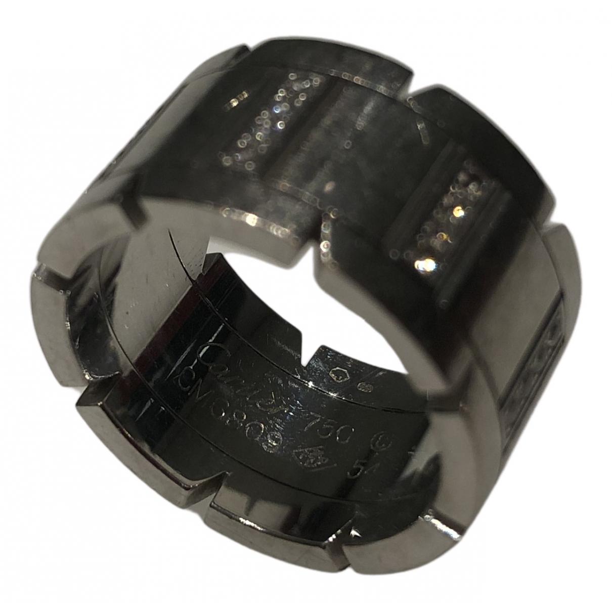Cartier Tank Francaise Ring in  Weiss Weissgold