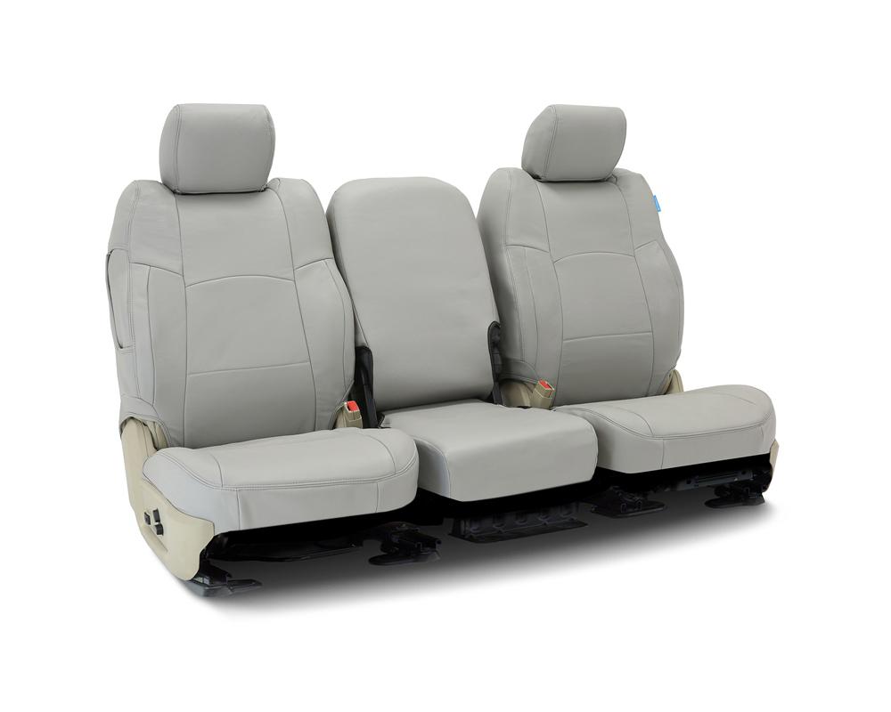 Coverking CSC1L3TT9678 Custom Seat Covers 1 Row Genuine Leather Gray Front Toyota RAV4 2013-2018