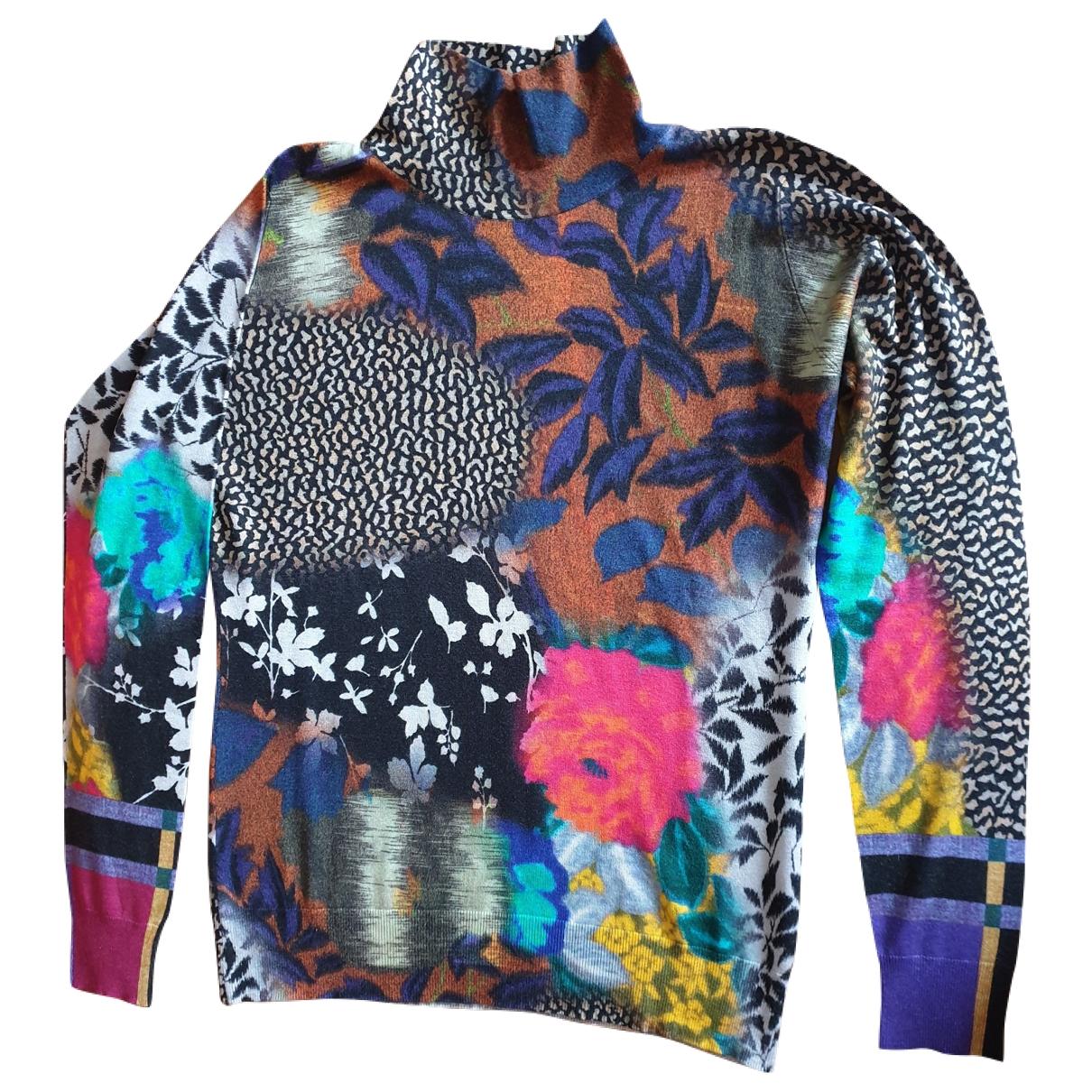Etro - Pull   pour femme en soie - multicolore