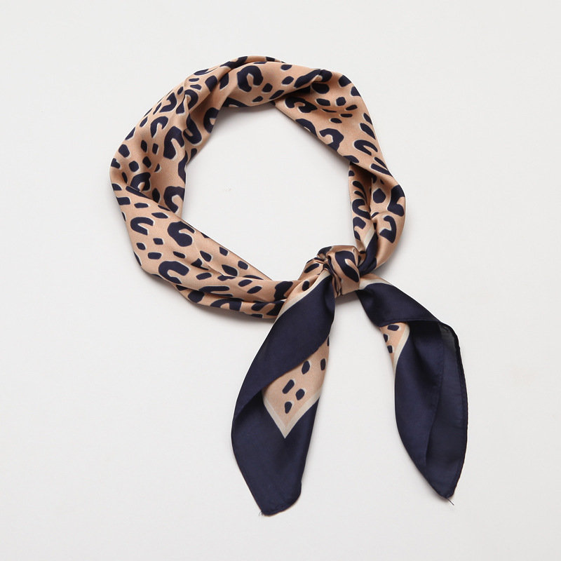 Woman Scarf Silk Products Decorative Square Scarf Leopard Scarf