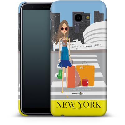 Samsung Galaxy J4 Plus Smartphone Huelle - NEW YORK TRAVEL POSTER von IRMA