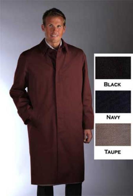Single Breasted Classic Poplin RaincoatTrench Coat Brown