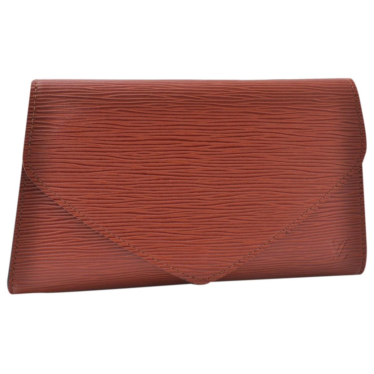 Louis Vuitton - Pochette   pour femme en cuir - marron