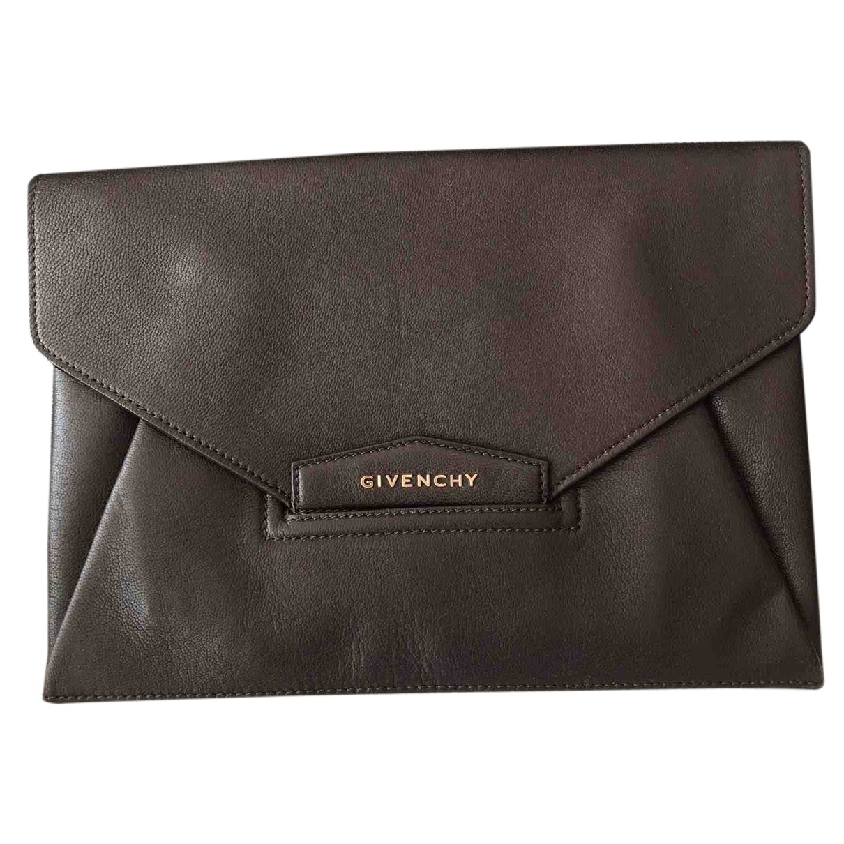 Givenchy - Pochette Antigona pour femme en cuir - marron