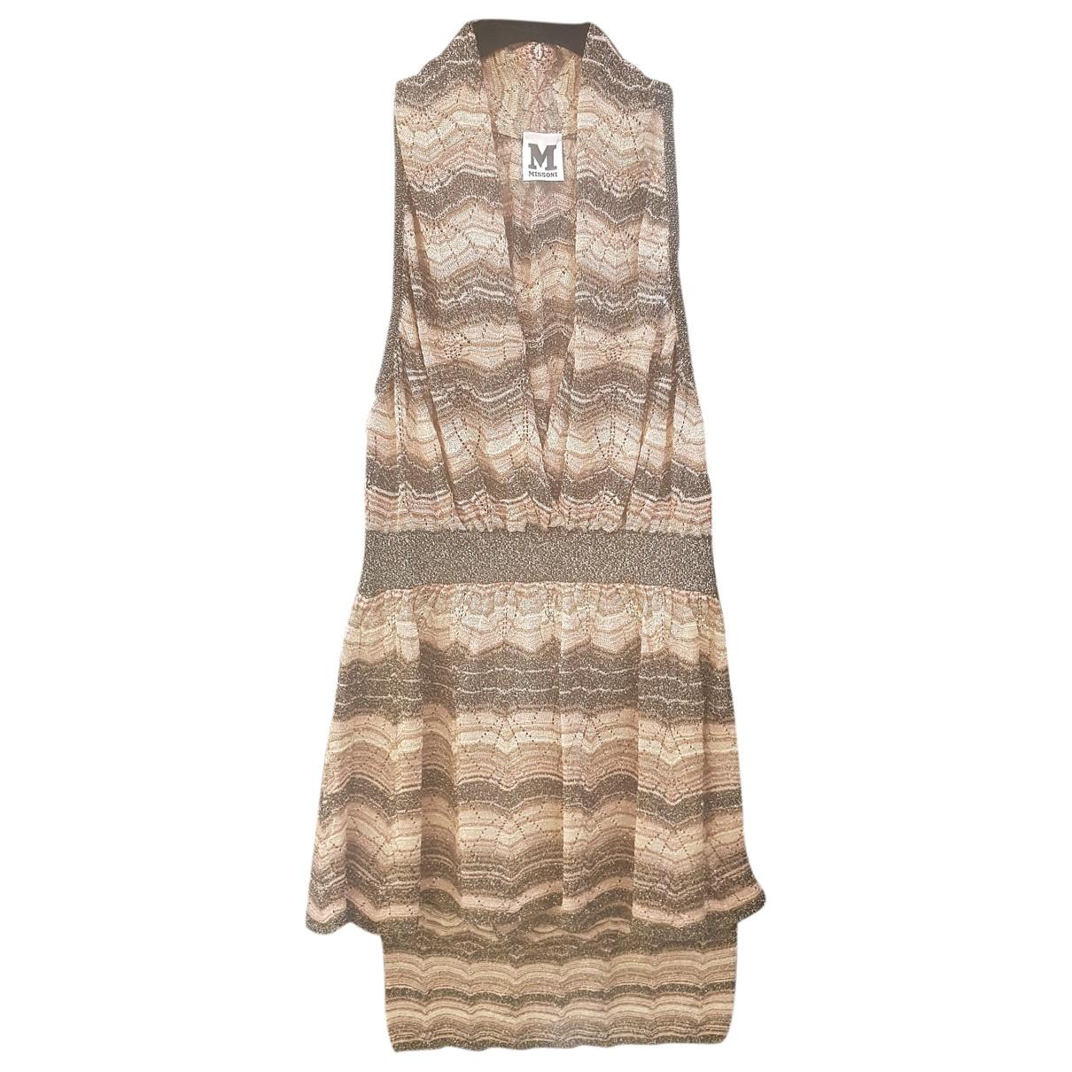 M Missoni \N Kleid in  Beige Baumwolle - Elasthan
