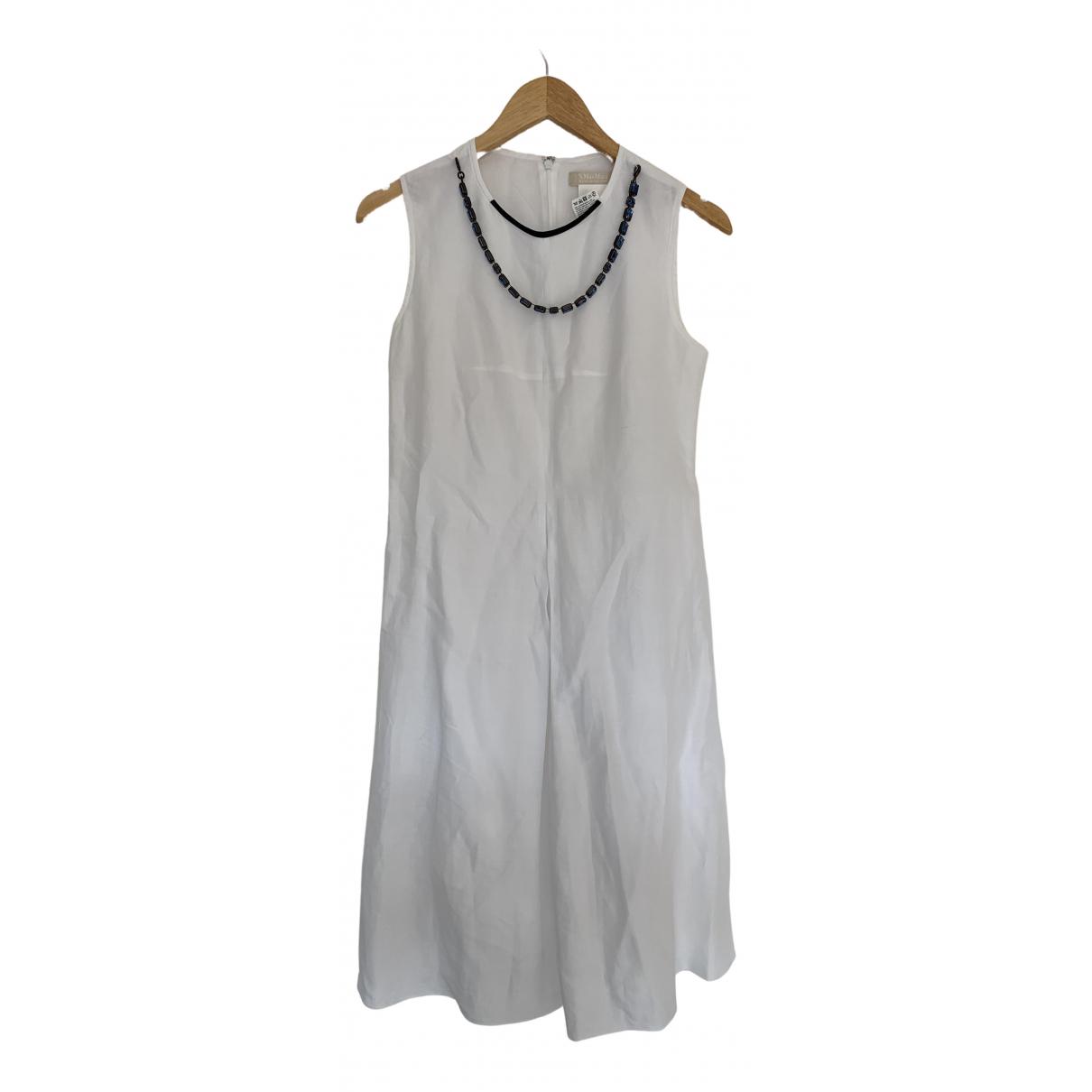 Max Mara s \N Kleid in  Weiss Baumwolle