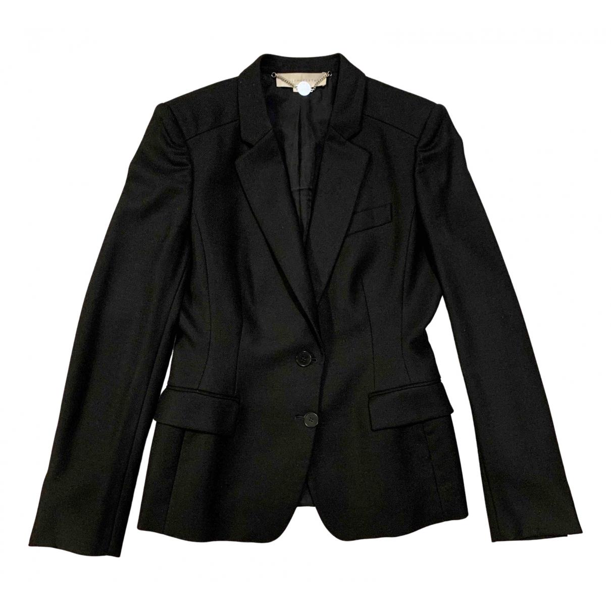 Stella Mccartney N Black Wool jacket for Women 44 IT
