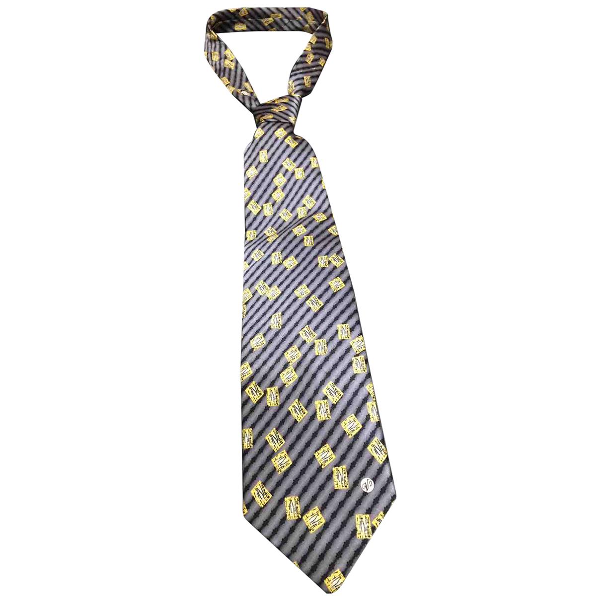 Versace \N Krawatten in  Gelb Seide