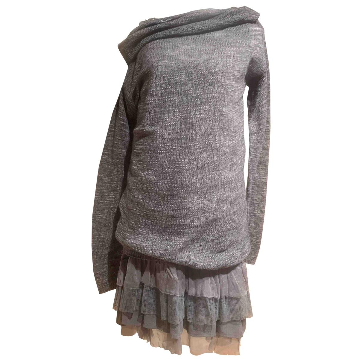 Twin Set - Robe   pour femme en laine - gris