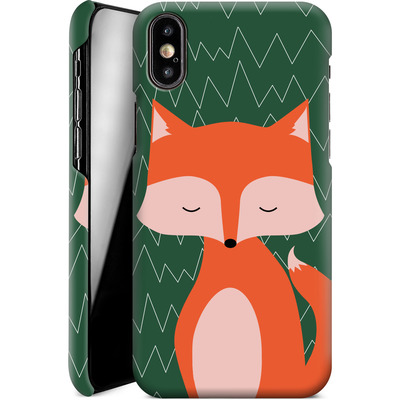 Apple iPhone X Smartphone Huelle - Fox on Green von caseable Designs