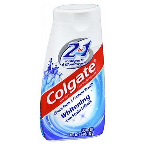Colgate 2 In 1 Toothpaste & Mouthwash Whitening 4.6 oz by Colgate