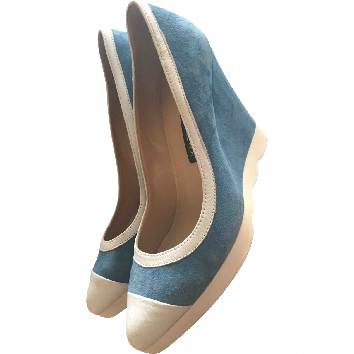 French Connection \N Blue Leather Sandals for Women 40 EU