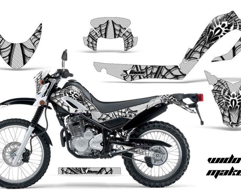 AMR Racing Dirt Bike Decal Graphic Kit MX Sticker Wrap For Yamaha XT250X 2006-2018áWIDOW BLACK WHITE