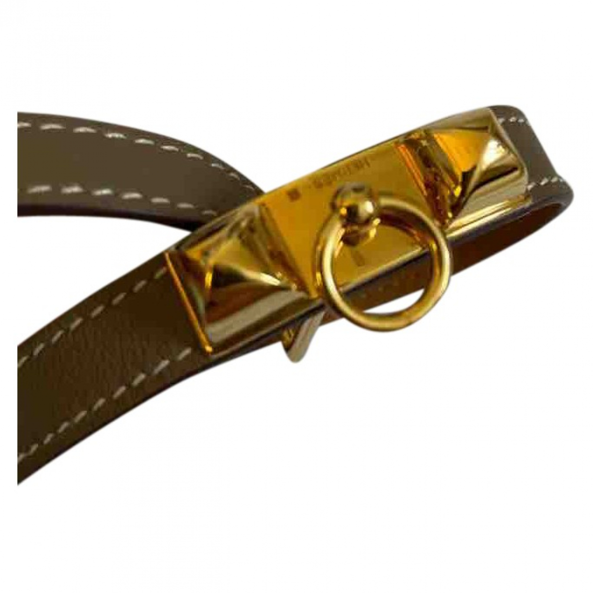 Hermes Kelly Armband in  Khaki Leder