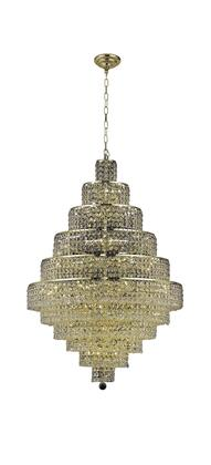 2039D32G/RC 2039 Maxim Collection Large Hanging Fixture D32in H48in Lt: 44 Gold Finish (Royal Cut