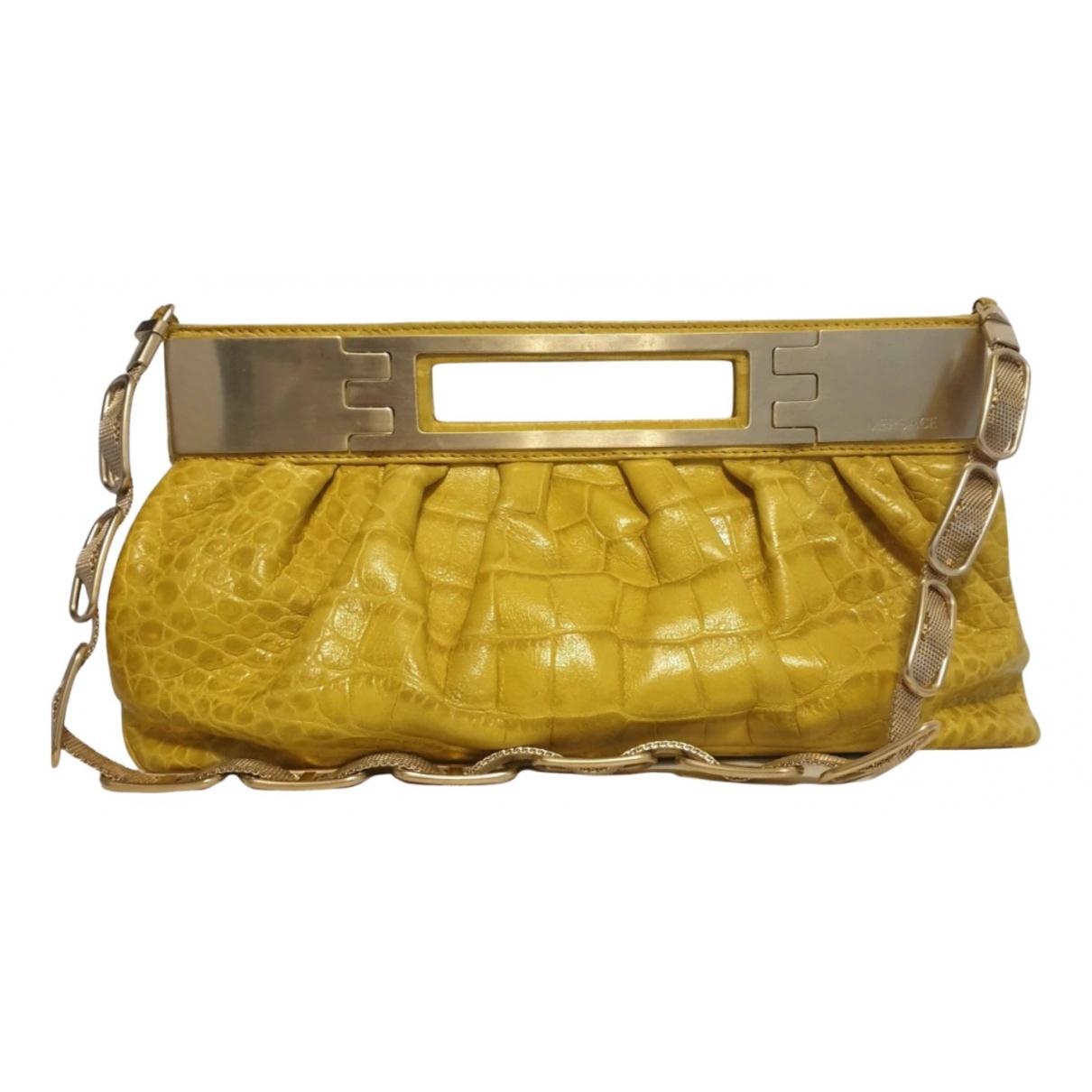 Versace N Gold Leather handbag for Women N