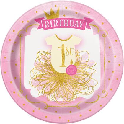 Pink & Gold First Birthday Round 9