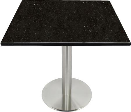 G206 30X30-SS14-17D 30x30 Black Galaxy Granite Tabletop with 17