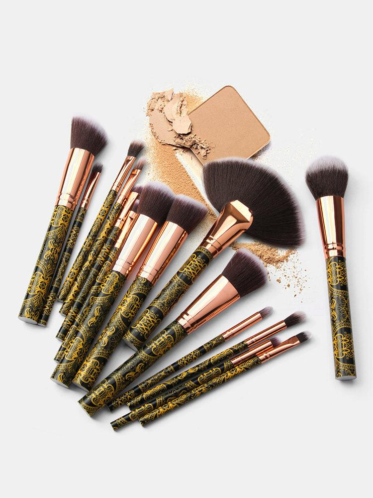 15 Pcs Makeup Brushes Set Contour Concealer Eyeliner Brush Beauty Makeup Tools
