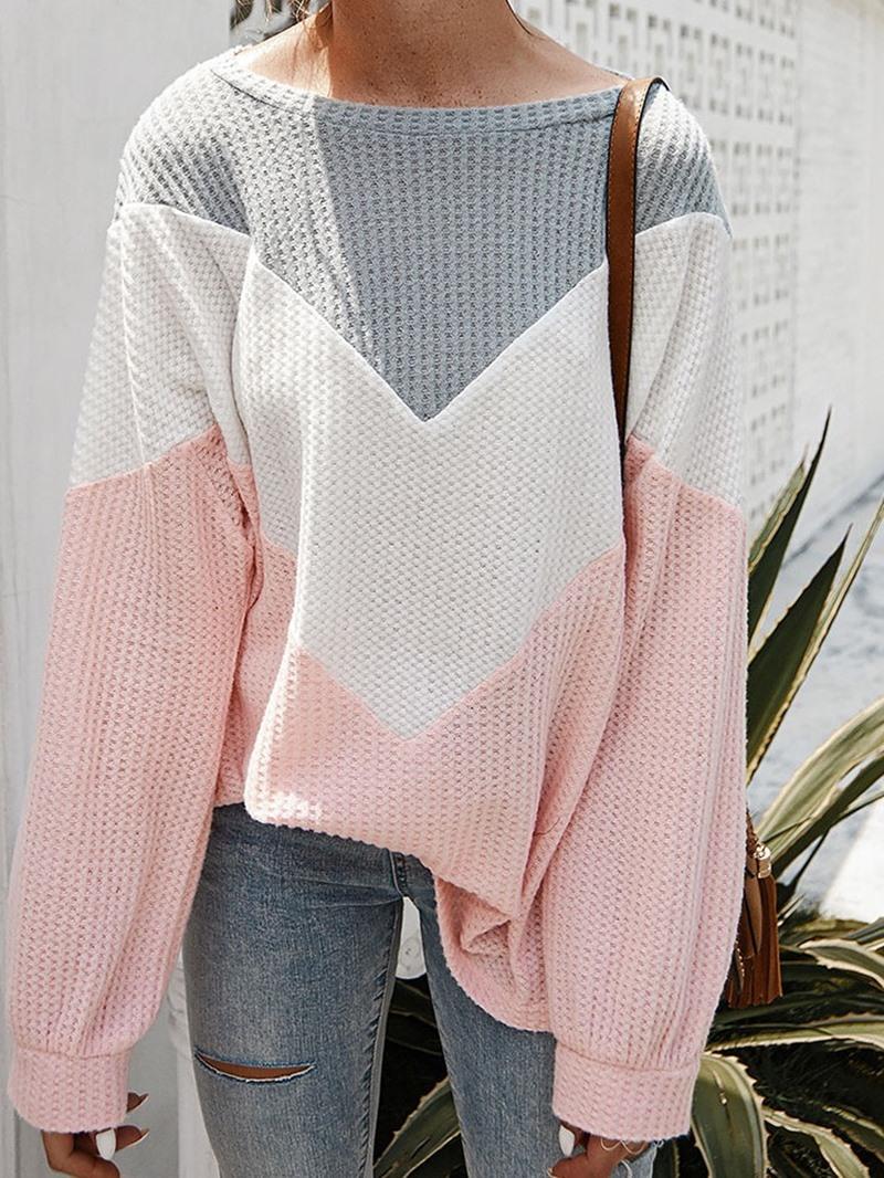 Ericdress Regular Thin Loose Round Neck Womens Sweater