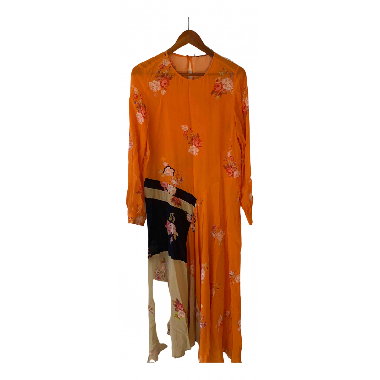 Preen \N Kleid in  Orange Viskose