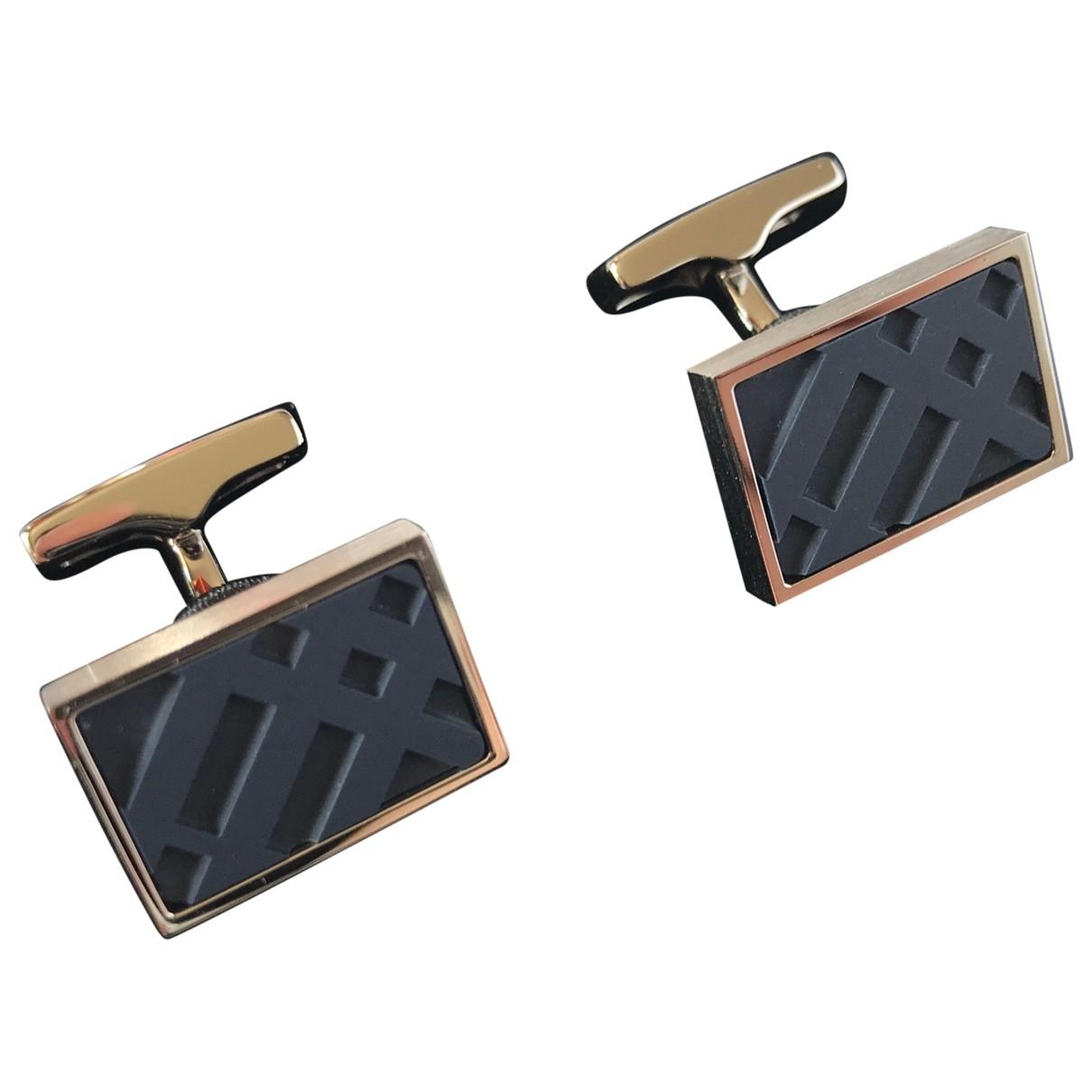Burberry \N Navy Metal Cufflinks for Men \N