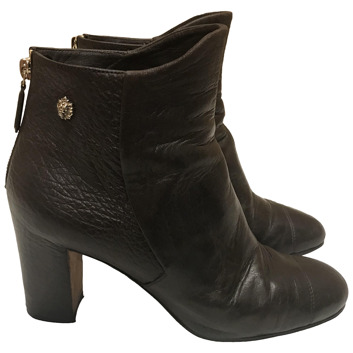 Chanel \N Brown Leather Ankle boots for Women 40.5 EU