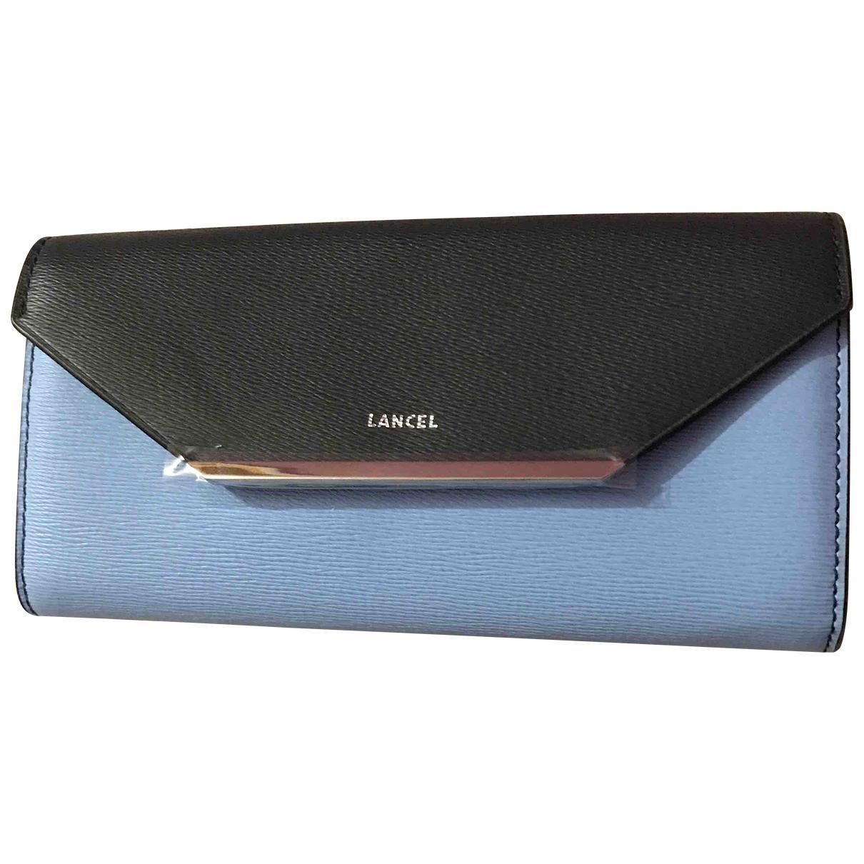 Lancel - Portefeuille Enveloppe pour femme en cuir - bleu