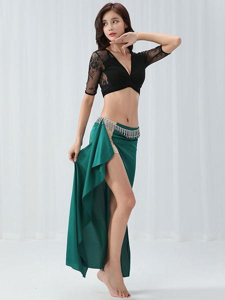 Milanoo Belly Dance Costumes Lace Semi Sheer Belly Dancer Set Modal Belly Dance Wear For Women