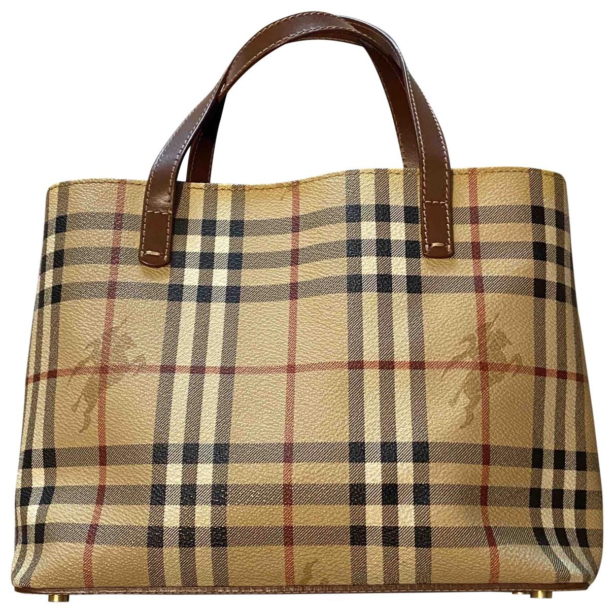Burberry \N Beige Cloth handbag for Women \N