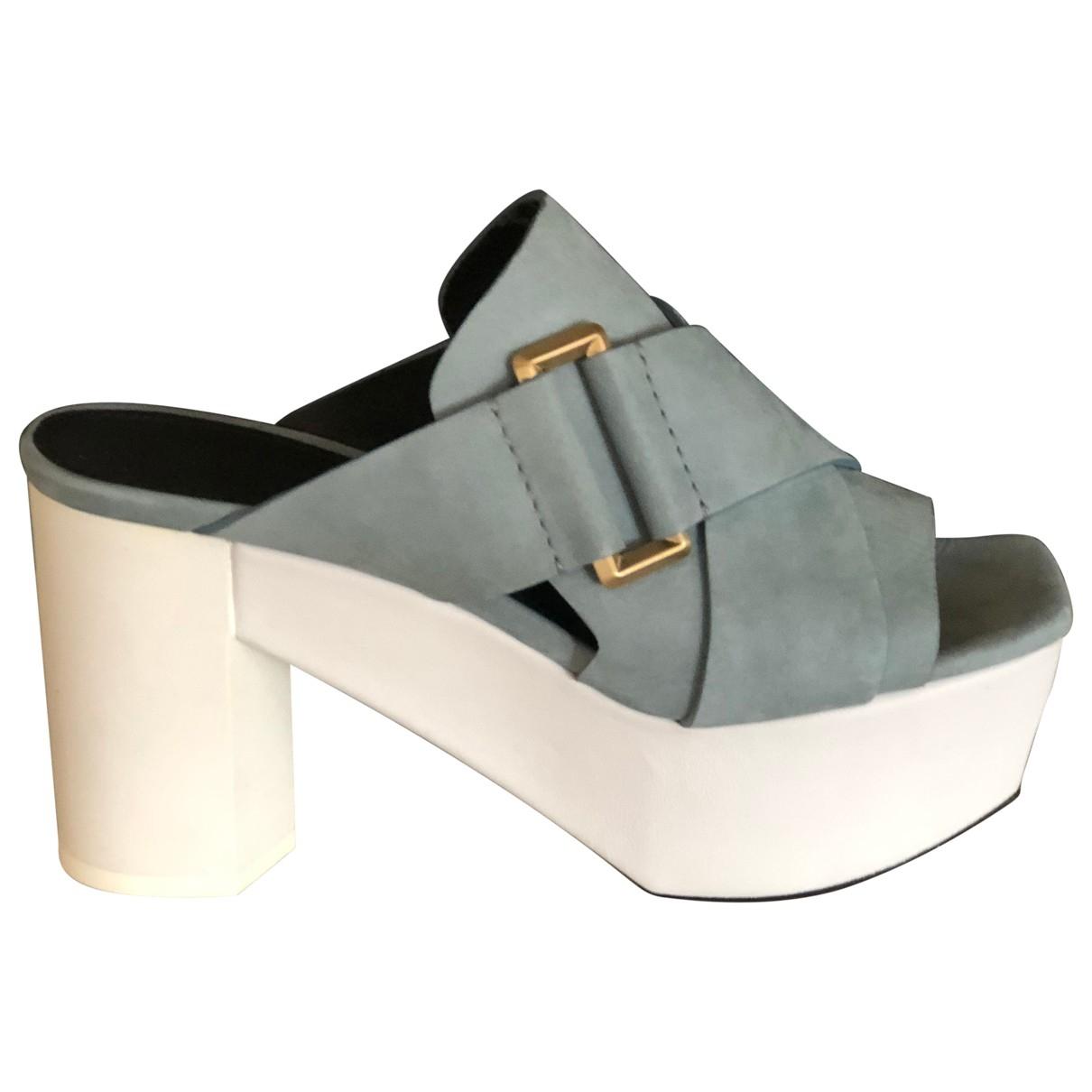 Calvin Klein Collection - Sandales   pour femme en suede - bleu