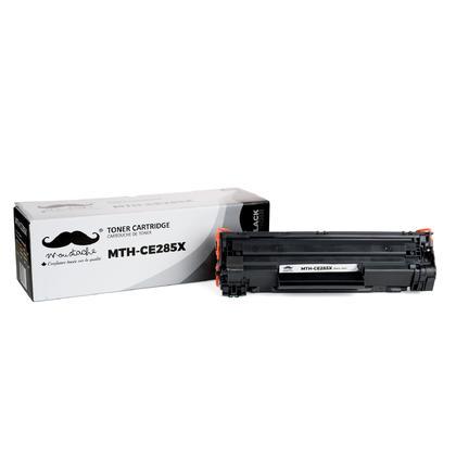 Compatible HP 85X cartouche de toner noir de Moustache, haut rendement
