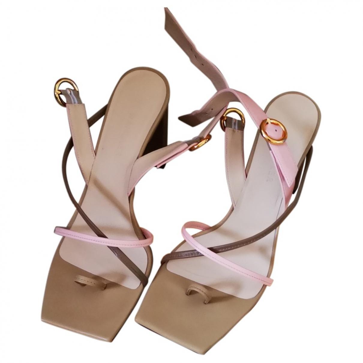 Wandler \N Beige Leather Sandals for Women 38 EU