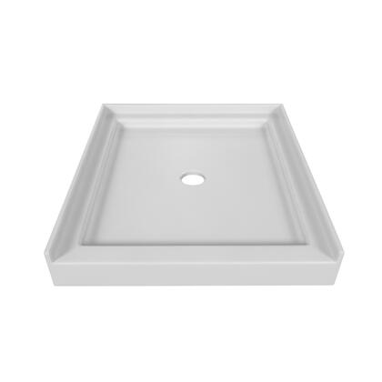 SBST-3236-BIS Single Threshold Biscuit Acrylic Multi-Layered Center Drain  Shower Base