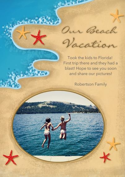 Just Because 5x7 Cards, Premium Cardstock 120lb with Elegant Corners, Card & Stationery -Our Beach Vacation