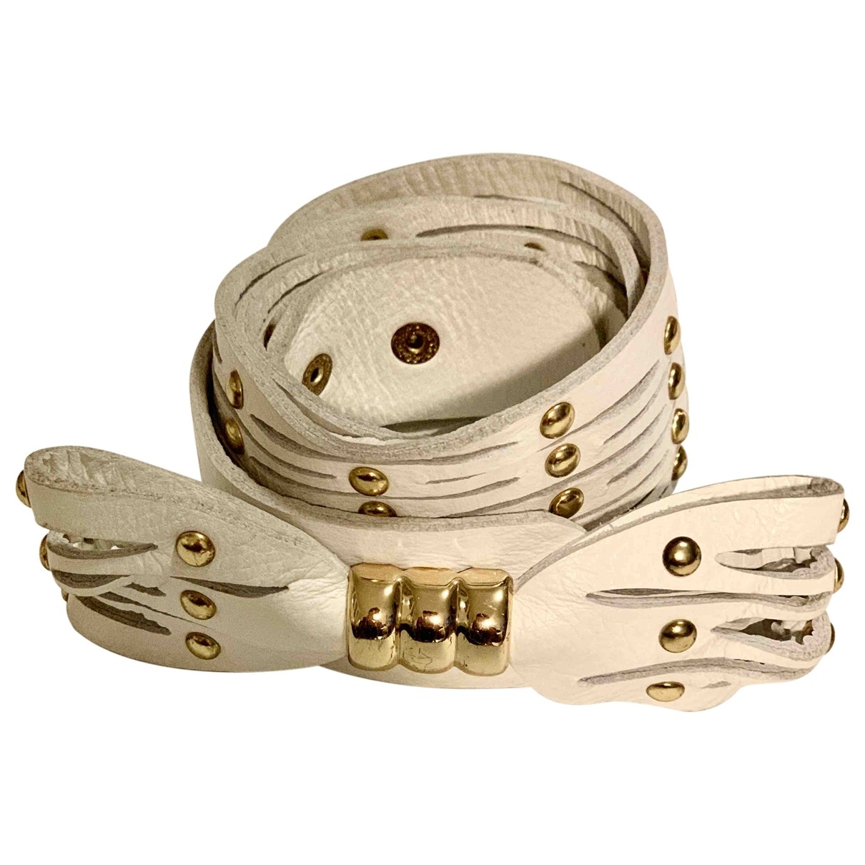 Roberto Cavalli \N White Leather belt for Women 95 cm