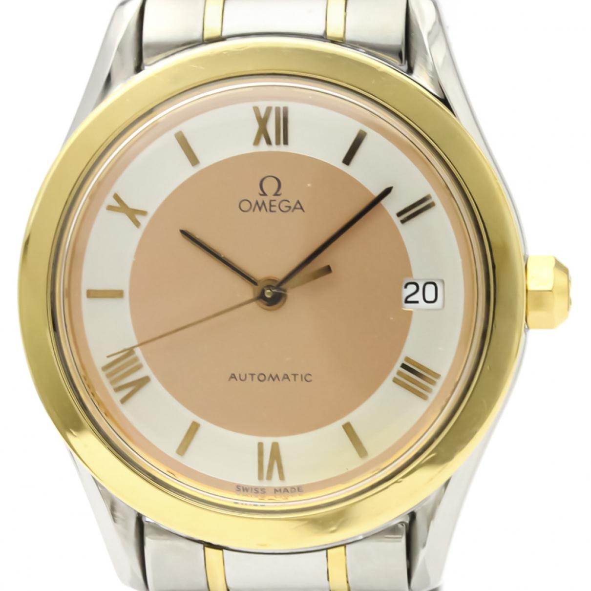 Omega \N Orange gold and steel watch for Women \N