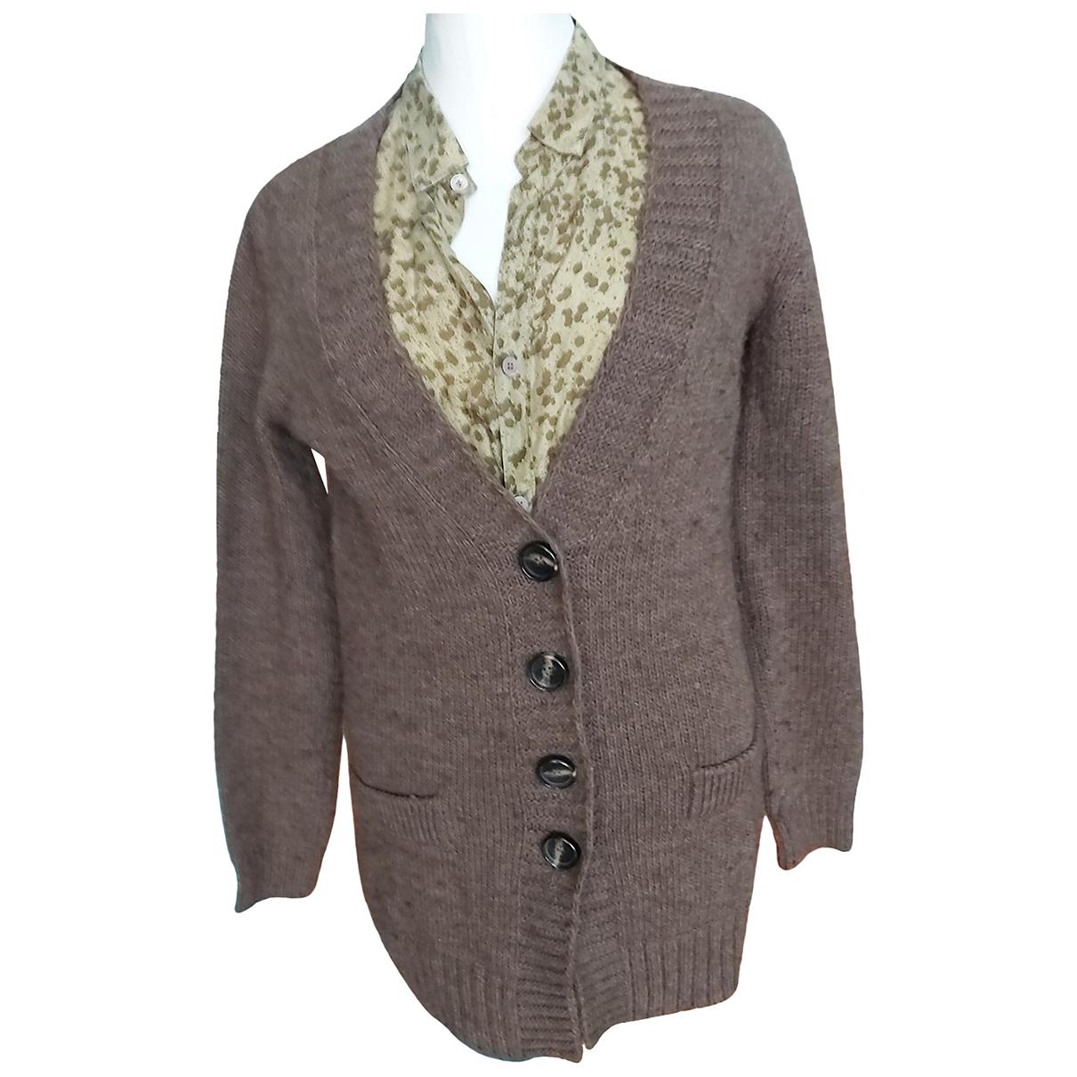 Essentiel Antwerp - Pull   pour femme en laine - marron