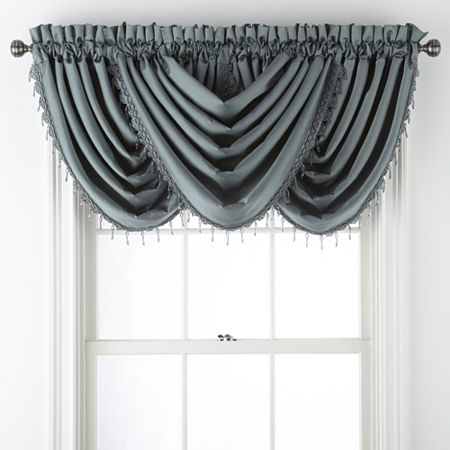 JCPenney Home Malone Rod-Pocket Waterfall Valance, One Size , Green