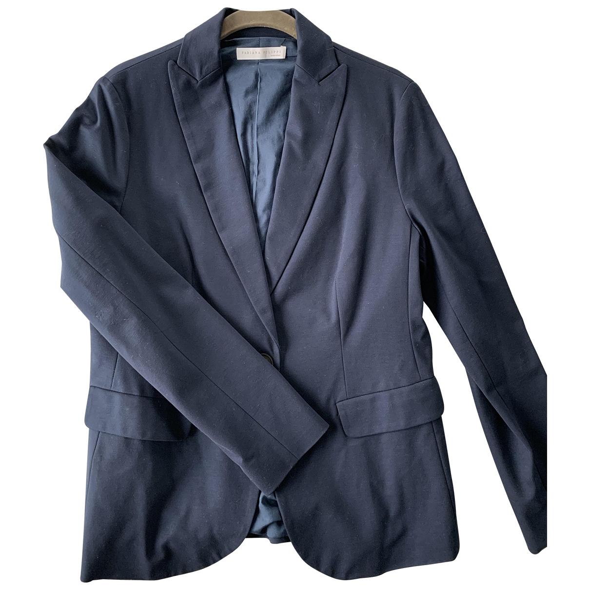 Fabiana Filippi - Veste   pour femme en coton - bleu