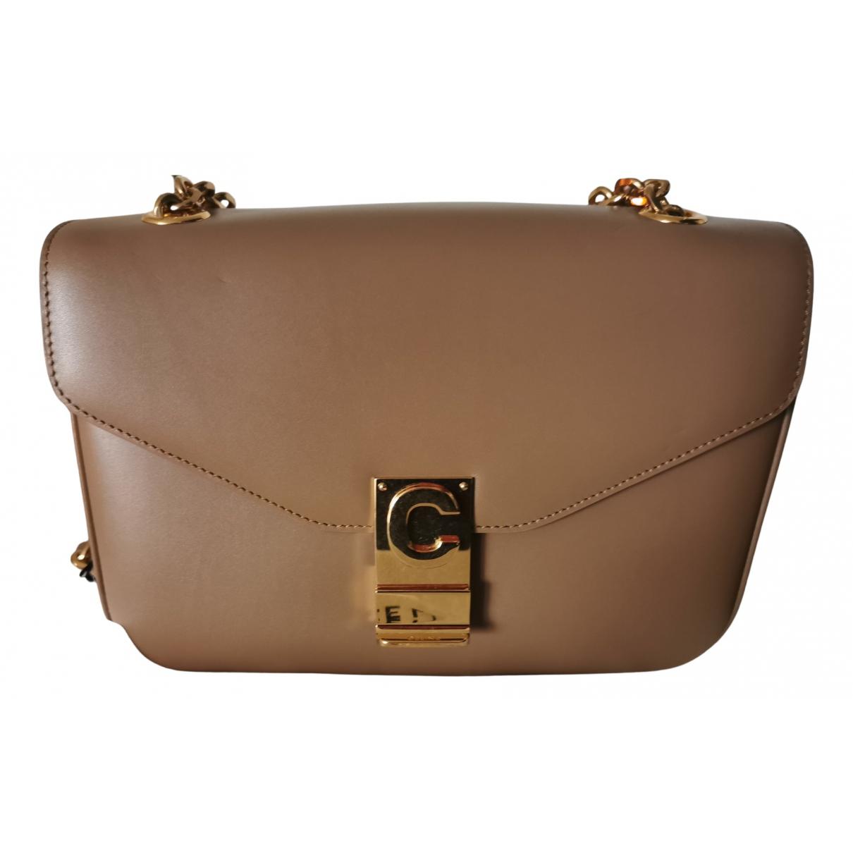 Celine C bag Beige Leather handbag for Women N