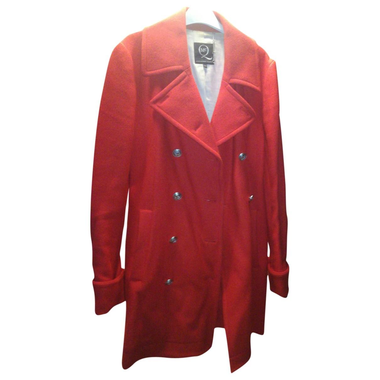 Mcq - Manteau   pour femme en laine - rouge
