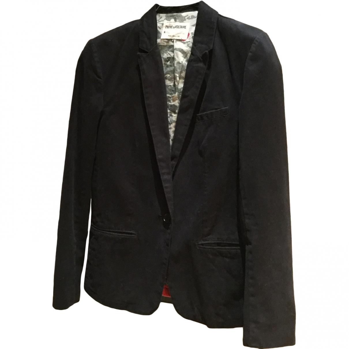 Zadig & Voltaire \N Black Cotton jacket for Women S International