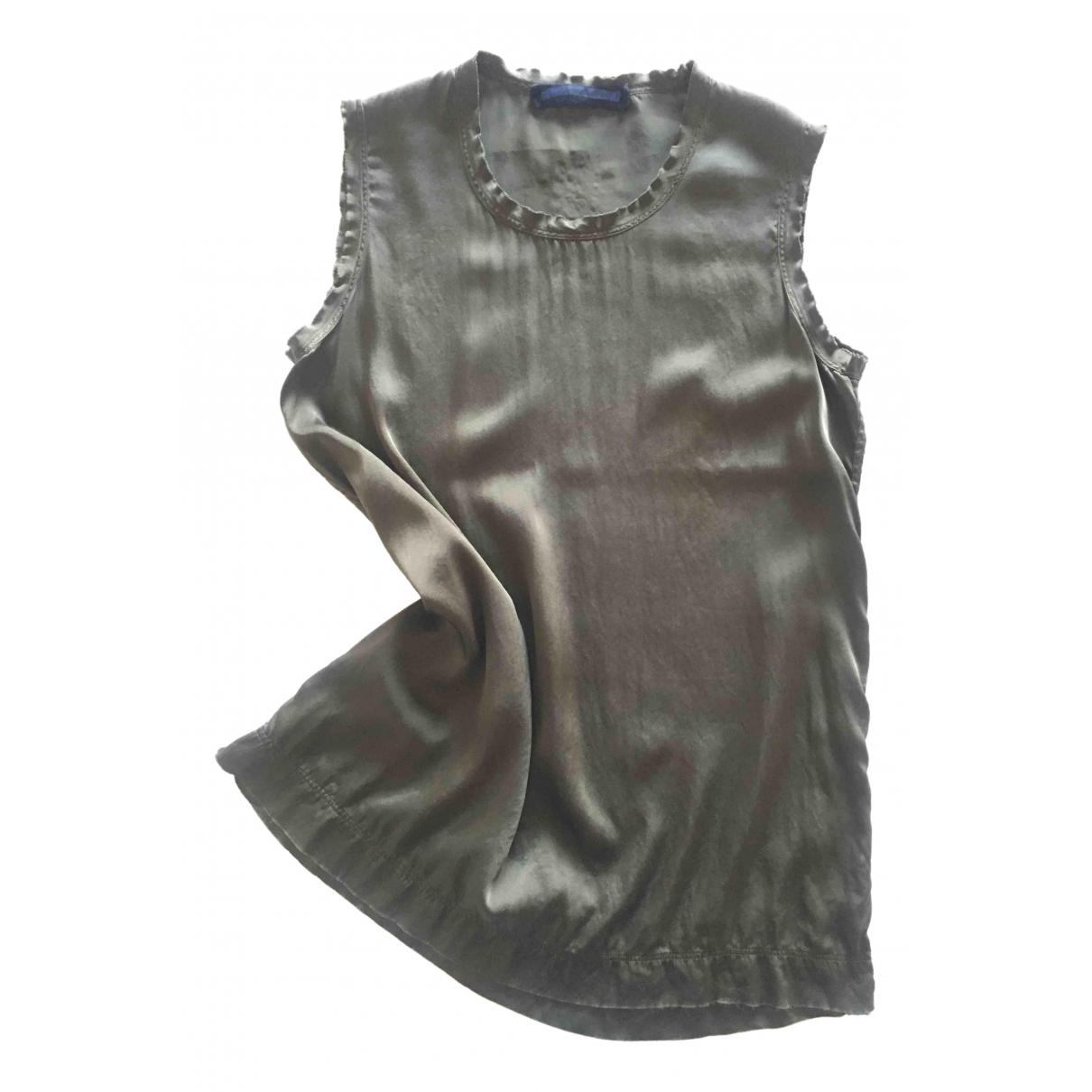 Drumohr \N Khaki Silk  top for Women M International