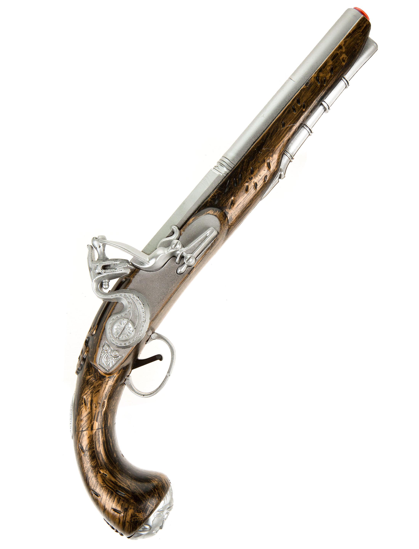 Kostuemzubehor Piratenpistole gold 43cm