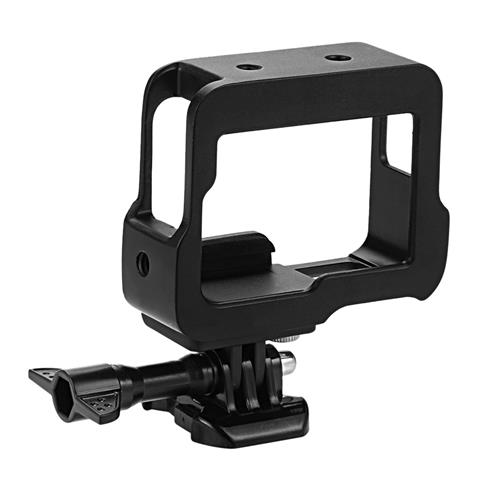 Alluminum Alloy Protective Frame Case For GoPro Hero5 CNC Processing Tech - Black