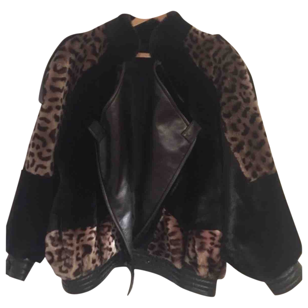 Non Signé / Unsigned \N Black Shearling coat for Women 42 FR