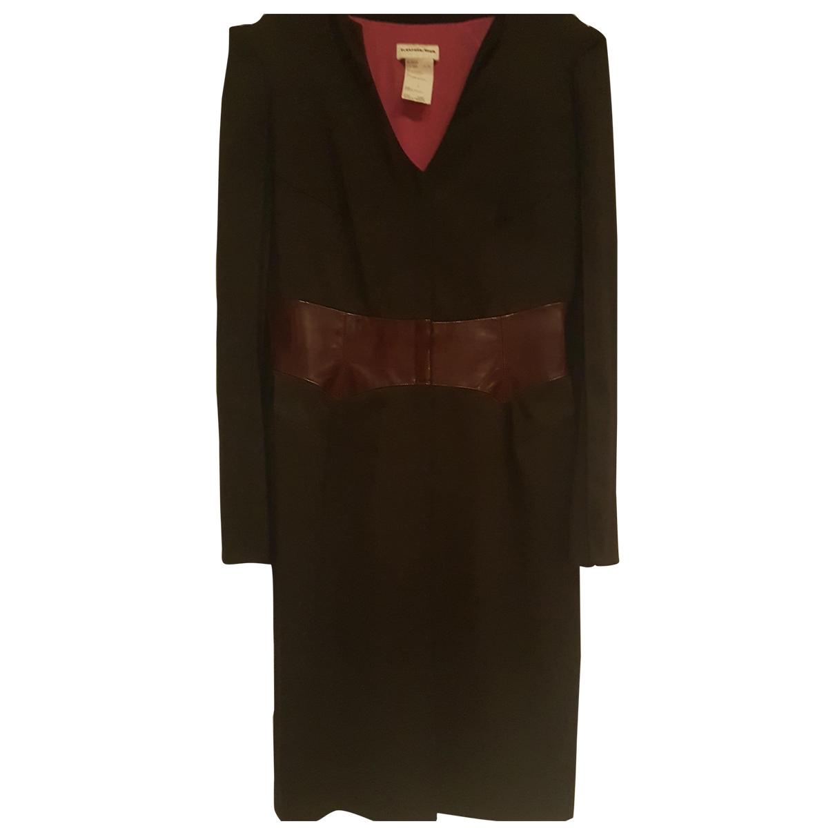 Mugler - Robe   pour femme en laine - noir