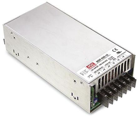 Mean Well , 630W Embedded Switch Mode Power Supply SMPS, 36V dc, Enclosed, Medical Approved